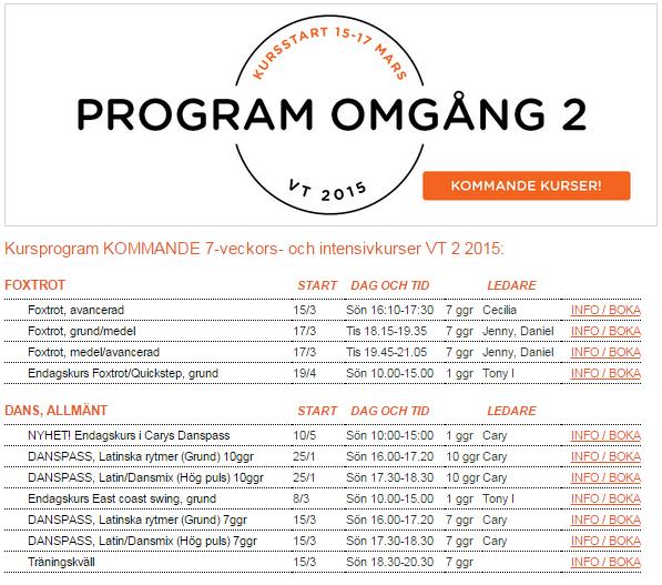Visning av kursprogram där Mälarsalen har lagt in en egen logga över kalendern